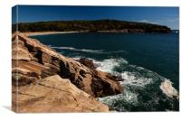 Acadia coast, Canvas Print