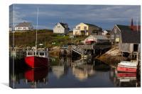 Peggys cove harbour, Canvas Print