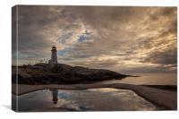 Lighthouse Peggys Coove, Canvas Print