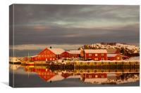 Laukvik Harbour, Canvas Print