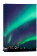 Northern lights over Laukvik, Canvas Print