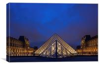 Paris, Louvre, Canvas Print