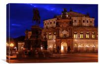 Semper opera house, Canvas Print