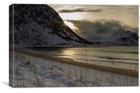 Haukland Beach, Canvas Print