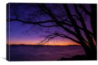 Cave Rock Beach Sunset, Canvas Print