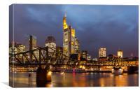 Frankfurt Blue Hour, Canvas Print
