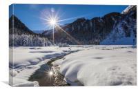 Winter creek, Canvas Print