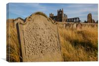 Whitby Abbey cemetery, Canvas Print