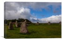 Aquhorthies Stone Circle , Canvas Print