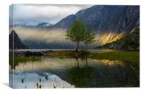 Sunset at Eidfjord, Canvas Print