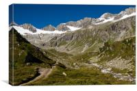Hiking in the austrian alps, Canvas Print
