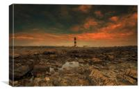 Lighthouse at St John's Point, Canvas Print