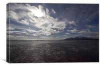 Mournes from Tyrella Beach, Canvas Print