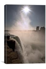 Niagra US view, Canvas Print