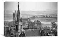 Morning Mist Downpatrick, Canvas Print