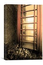 Red phone Box on Primrose Hill, Canvas Print