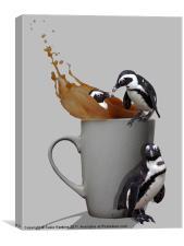 Tea Break - Pick up a penguin, Canvas Print