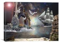 Grey Havens farewell, Canvas Print