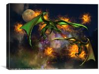 War of the Dragons, Canvas Print