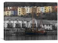 Sail under Colour, Canvas Print