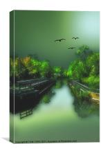 THE OLD CANAL, Canvas Print