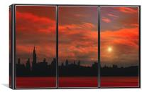 HOT IN THE CITY, Canvas Print