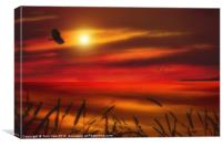 AUGUST SUNSET, Canvas Print