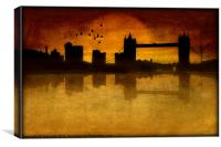 OVER THE TOWER BRIDGE, Canvas Print