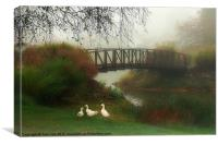 A FOGGY MORNING, Canvas Print