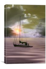 ANCHORED FOR THE NIGHT, Canvas Print