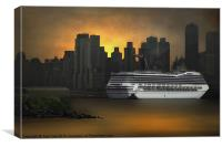 NEW YORK PORT OF CALL, Canvas Print
