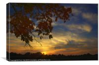 COUNTRY SUNSET, Canvas Print