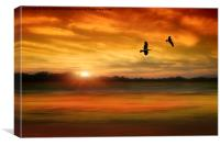 Sunset Serenity, Canvas Print