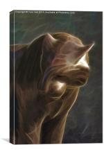 Tiger Abstract, Canvas Print