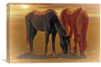 Horses In The Sunset, Canvas Print