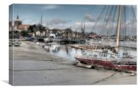 Low Tide, Maldon, Canvas Print