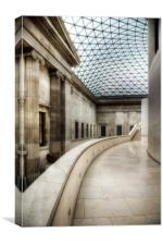 The Great Court, British Museum, Canvas Print