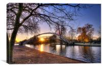 Bedford Embankment Suspension Bridge, Canvas Print