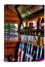 Staverton Ground Frame Box, South Devon Railway, Canvas Print