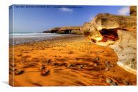 Fuerteventura Playa de Garcey, Canvas Print