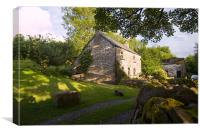 Welsh Slate Cottage, Canvas Print