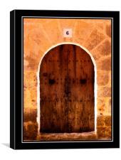 Old Doorway Mallorca, Canvas Print