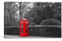 Thurloe Place Phonebox, Canvas Print