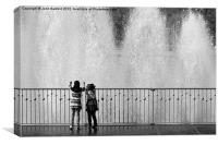 Battersea Park Fountains, Canvas Print