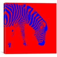 Stripes colour, Canvas Print