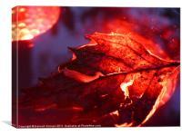 Glowing Leaf, Canvas Print