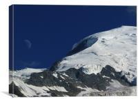 Le Mont Blanc, Canvas Print