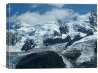 Mont Blanc moutain chain, Canvas Print