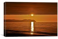 Storm Front Sunset, Canvas Print
