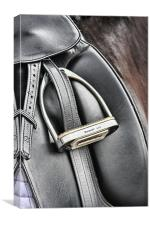 Dressage Saddle, Canvas Print